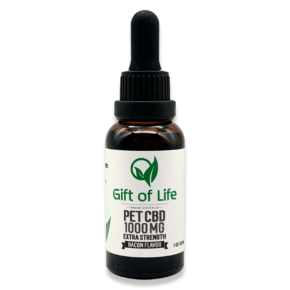gift of life pet cbd 100mg extra strength bacon flavored product
